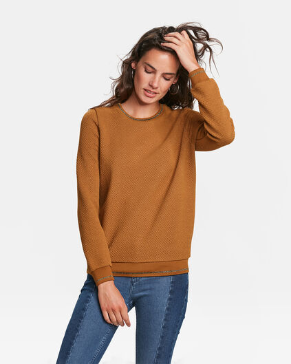 DAMES JACQUARD SWEATER Goud