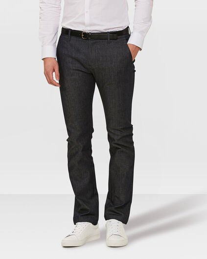 CHINO DENIM REGULAR FIT HOMME Bleu foncé