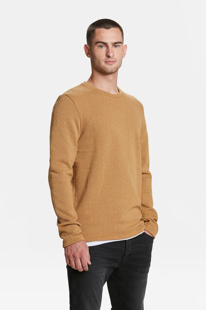 PULL HOMME Jaune moutarde