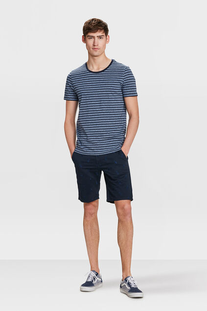 SHORT REGULAR TAPERED ANANAS DESSIN HOMME Bleu marine