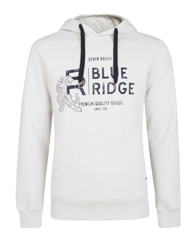 HEREN BLUE RIDGE HOODED SWEATER Lichtgrijs
