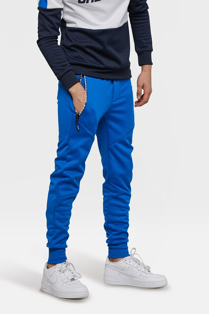 Pantalon sweat sporty garçon Bleu