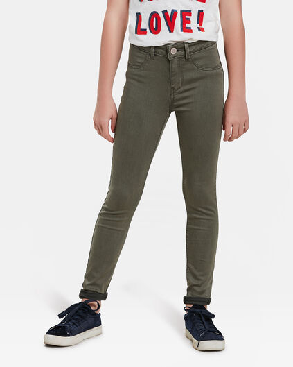 JEGGING SUPER SKINNY SUPER STRETCH FILLE Vert armee