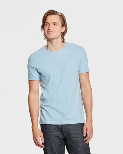 HEREN SLIM FIT R-NECK T-SHIRT Lichtblauw