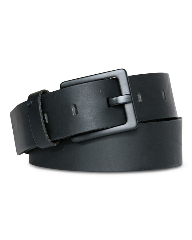 CEINTURE MATT REAL LEATHER HOMME Noir