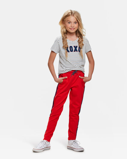 MEISJES SPORTY STRIPE JOGGER Felrood
