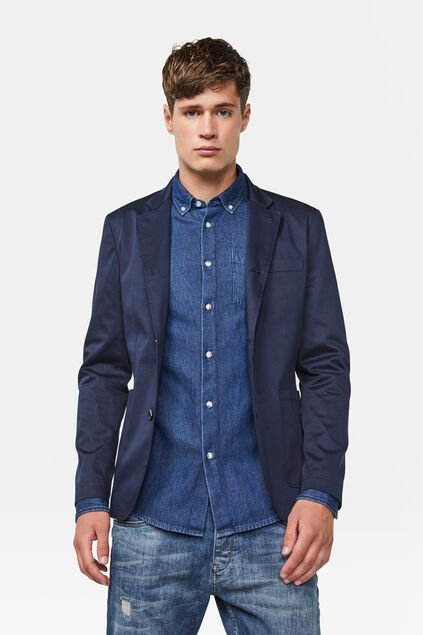 Heren slim fit blazer Caspain Marineblauw