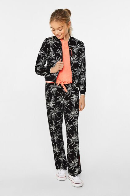 Meisjes bomber jacket met dessin All-over print