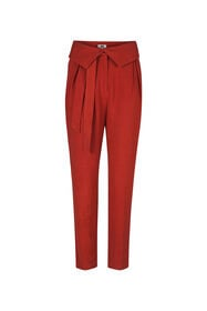 Dames Slim FIt  linnenmix pantalon_Dames Slim FIt  linnenmix pantalon, Bruin