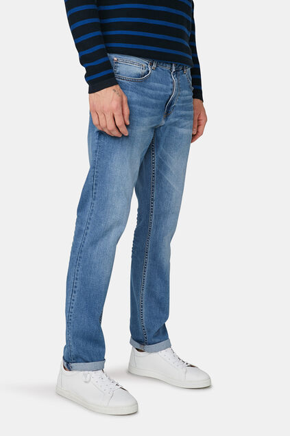Jeans regular straight comfort stretch homme Bleu eclair