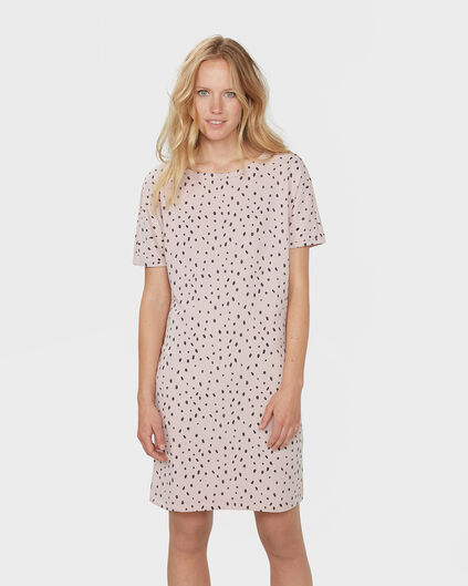 DAMES COFFEE PRINT JURK Roze