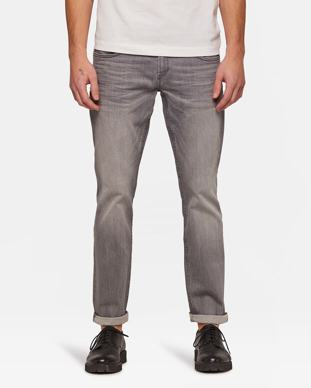 Heren regular straight leg jeans Grijs