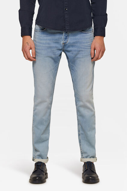 Heren Slim tapered jeans Lichtblauw