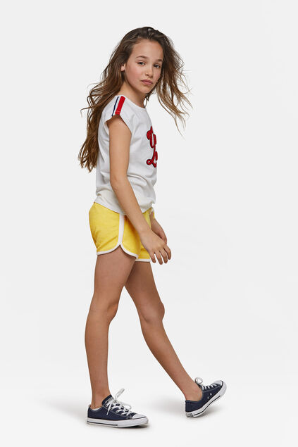 Short American holiday print fille Jaune
