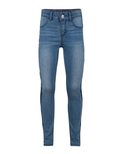 MEISJES SUPER SKINNY POWERSTRETCH SIDE STRIPE JEGGING Blauw