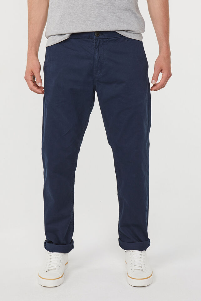 Heren regular straight fit chino Donkerblauw