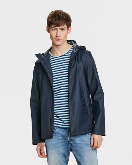 HEREN REGULAR FIT REGENJAS Marineblauw