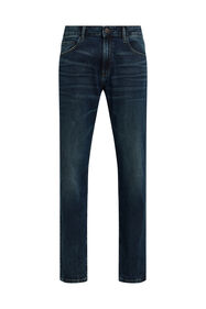 Heren regular fit jeans_Heren regular fit jeans, Donkerblauw