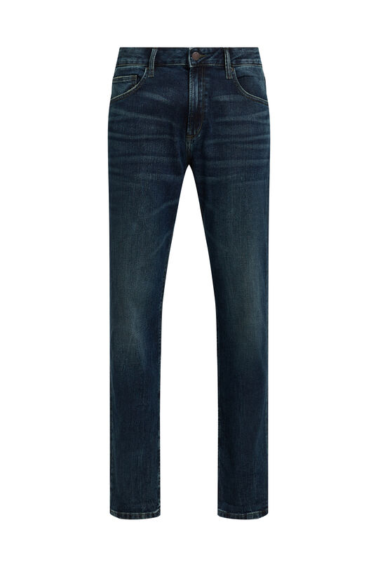 Heren regular fit jeans Donkerblauw