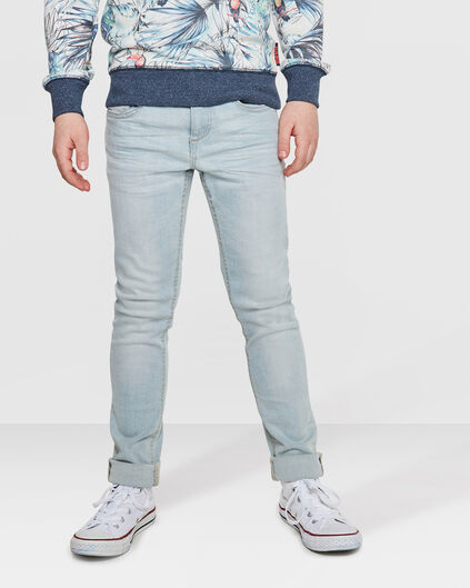 JONGENS SUPER SKINNY POWER STRETCH JEANS Lichtgrijs
