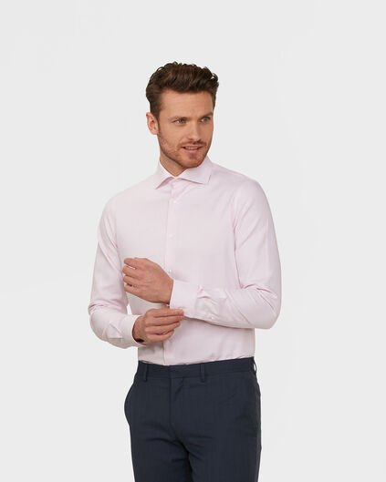 HEREN FINEST COTTON SLIM FIT OVERHEMD Roze