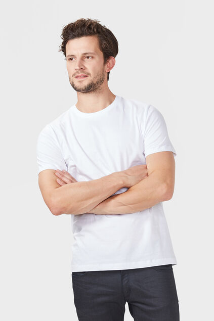 Heren T-shirt 2-pack Wit