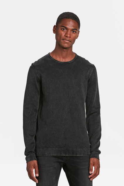 PULL RELAXED FIT STONE WASH HOMME Noir