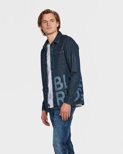 HEREN BLUE RIDGE DENIM OVERHEMD Donkerblauw
