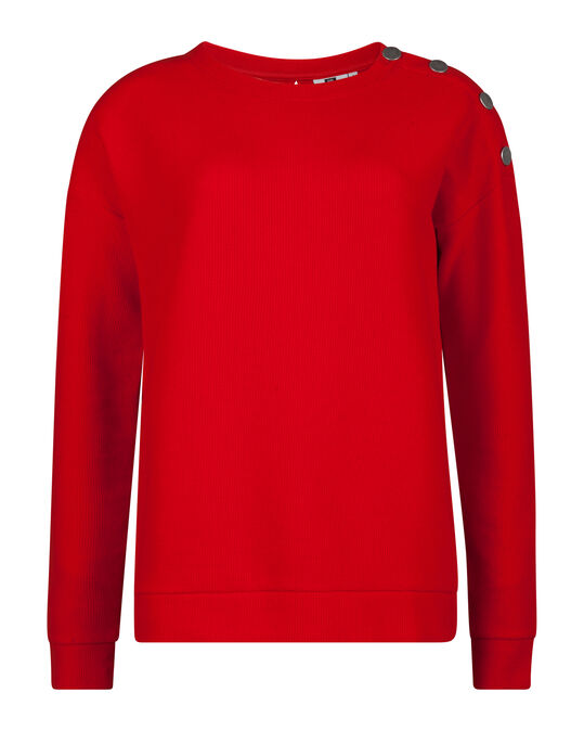 SWEAT-SHIRT STRUCTURÉ FEMME Rouge