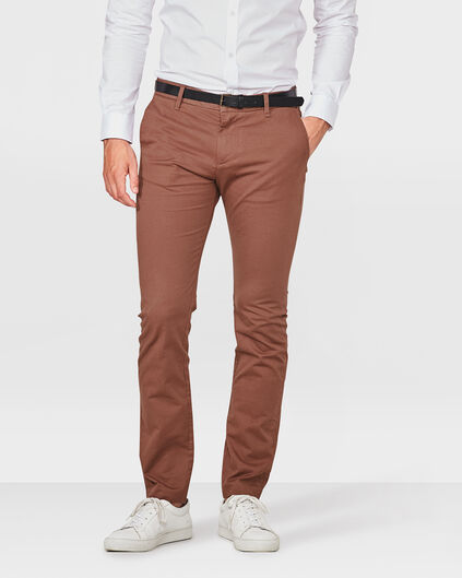 HEREN SLIM FIT CHINO Roestbruin
