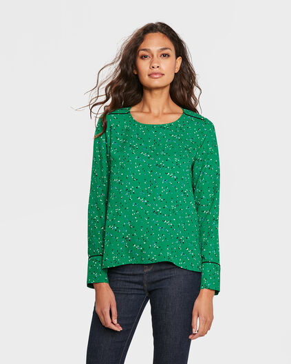 DAMES PRINT TOP Groen