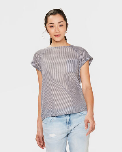 DAMES STRIPED TOP Zwart