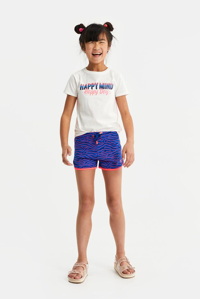 Meisjes short met dessin All-over print