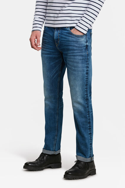 HEREN RELAXED TAPERED JEANS Blauw
