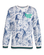 SWEAT-SHIRT TIGER PRINT GARÇON_SWEAT-SHIRT TIGER PRINT GARÇON, Blanc