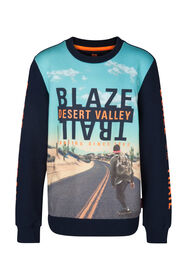 Jongens Desert Valley sweater_Jongens Desert Valley sweater, Indigo