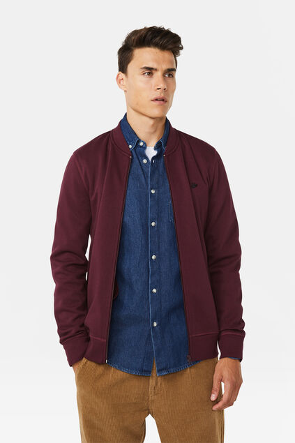 Sweat bomber homme Bordeaux