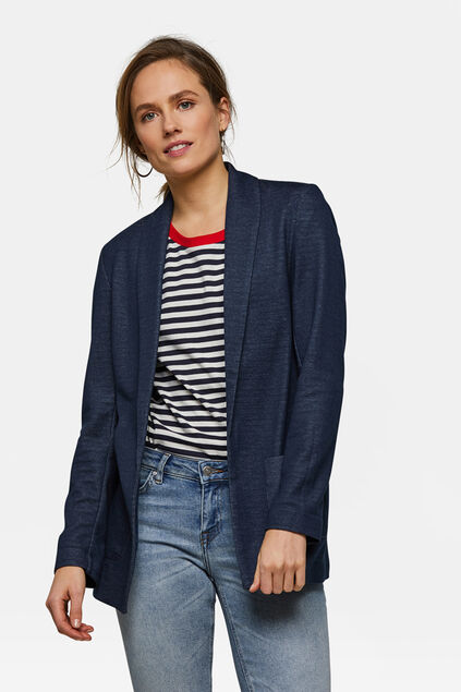 DAMES REGULAR FIT MELANGE BLAZER Donkerblauw