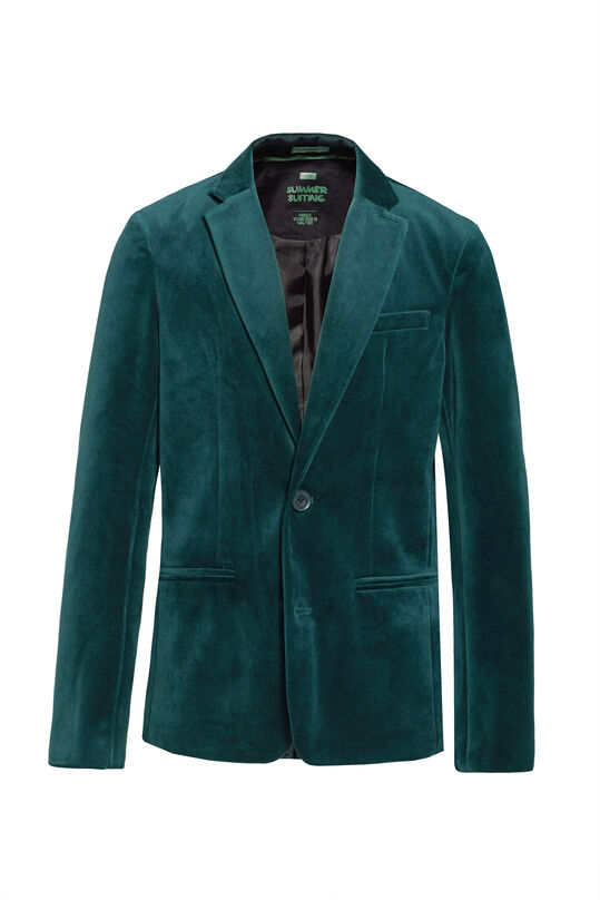 Jongens regular fit blazer Groen