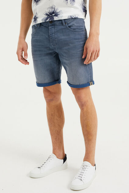 Short denim homme Bleu marine