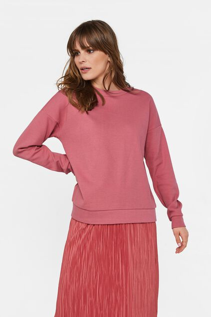 Sweat-shirt à structure femme Rose