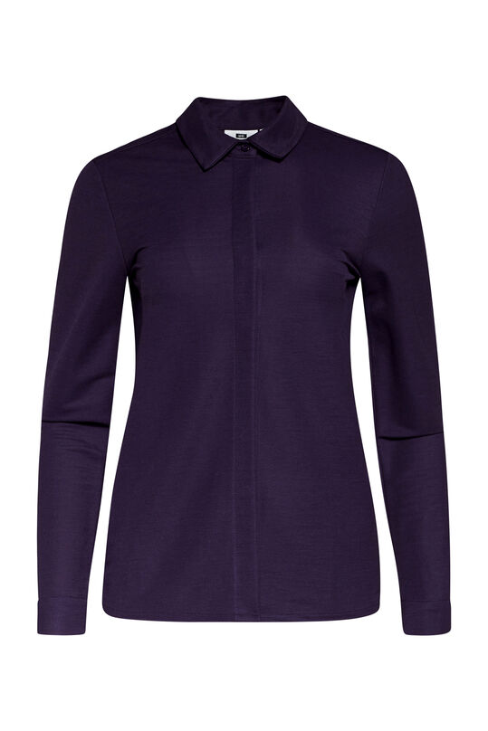 Dames jersey pique blouse Paars