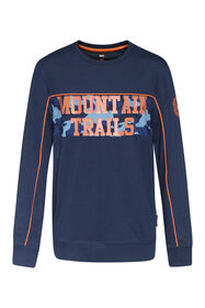 Jongens mountain trails T-shirt_Jongens mountain trails T-shirt, Marineblauw