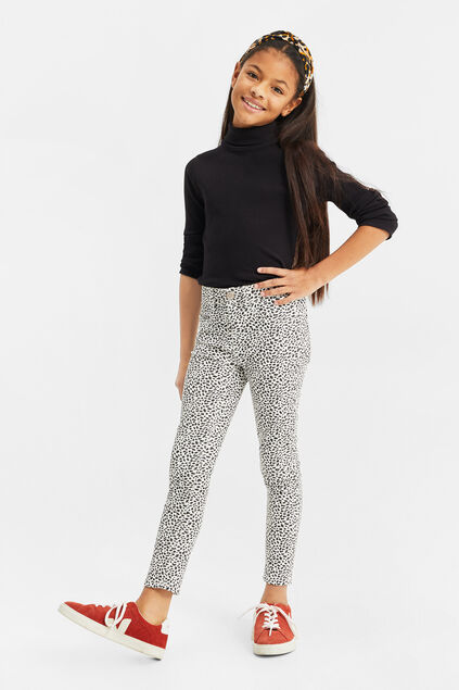 Meisjes super skinny fit jegging met dessin All-over print