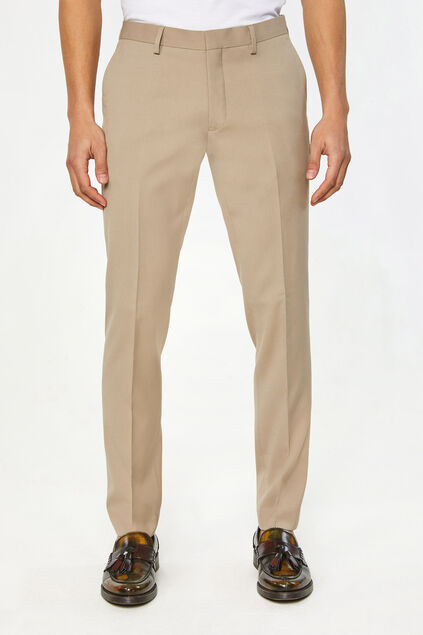 Heren slim fit pantalon Dali Beige