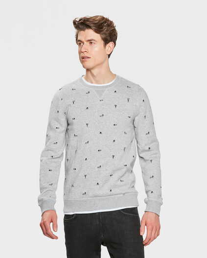 HEREN BIKE PRINT SWEATER Grijs