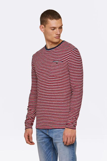 Pull ligné homme Rouge