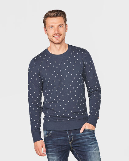 HEREN BLUE RIDGE LOGO SWEATER Donkerblauw
