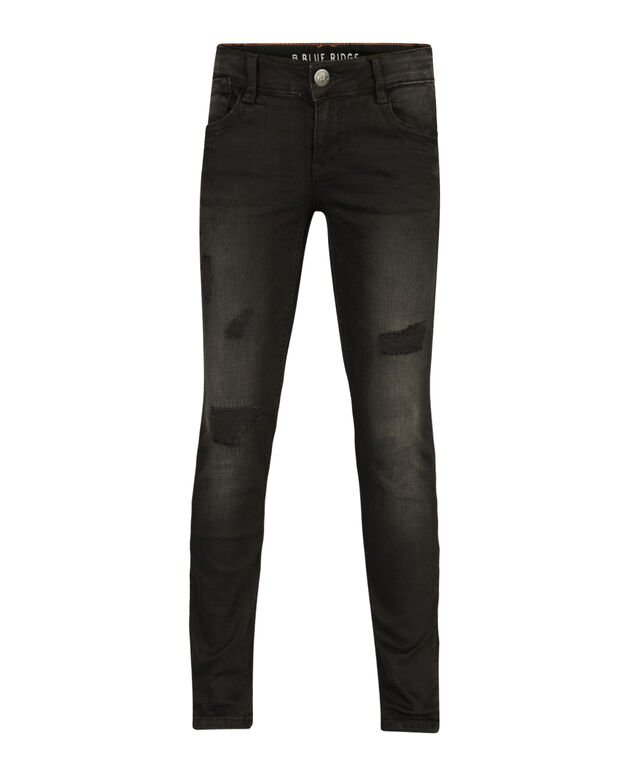 JEANS SKINNY FIT POWER STRETCH REPAIR FILLE Noir