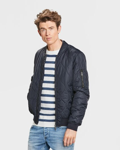 HEREN QUILTED BOMBER JACKET Blauw
